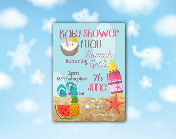 Luau Baby Shower Invitation