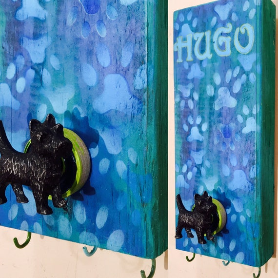 pet storage dog leash holder /dogs collar wall hook leashes hanger wall storage personalized pet lover recycled wood art custom animal decor