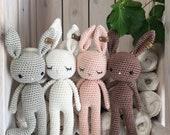 Baby amigurumi Bunny,crochet bunny, crochet toy newborn gift, newborn bunny gift, child gift, newborn birth gift,newborn shower gift,newborn