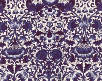 Liberty Lodden William Morris Navy Roman Blind Made to Measure