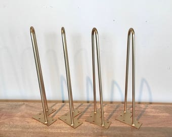 Beautiful Brass Hairpin Table Legs (Set of 4)