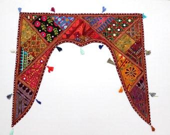 Handmade Window Door Valance Interior Decor Ethnic Gypsy Hippy Hippie Toran Pelmet Topper Drapery Top Hanging Tent Bohemian Art L798