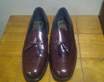 Johnston & Murphy Burgundy Presidents Collection Shoes 9 C/R