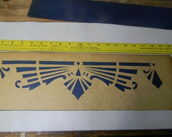 Vintage Hand-Cut Border Pattern Stencil 1930-1950's Painting Tole Wall Finishes