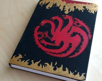 Game of Thrones House Targaryen Notebooks Hand Painted Sigil