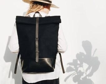 Leather Backpack, City Backpack, Design Backpack, Rolltop Backpack, Style Backpack, Fashion Backpack, Bike Backpack, Man, FOLDOVER BACKPACK