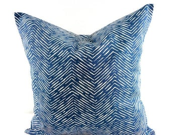 SALE Navy Pillow cover. Cameron Slub Navy Sham Cover. Navy and white Sham Pillow case.Select your size.