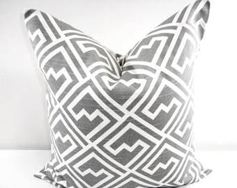SALE Grey  PILLOW. Gray  and white Pillow cover. Shakes  Sham Pillow case. Select your size.
