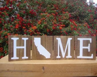 California Blocks. Home Blocks. California Decor. Home State Decor. Rustic Decor. Wood Blocks. CA Decor. CA  Blocks