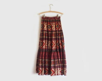 vintage southwestern maxi skirt