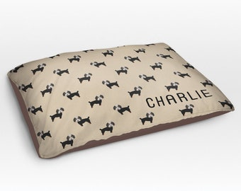 Personalized Bernedoodle Dog Bed, Dog Beds, Large Pet Bed, Cute Dog Duvet, Custom Name Dog Bed Pillow, Dog Gifts for dog