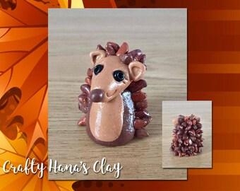 Clay Hedgehog Min Figure - Harry the Hedgehog  - Mini Clay Figure  - Crafty Hana's Clay