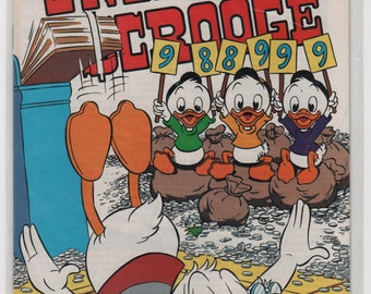 35+ year old, Walt Disney, Uncle Scrooge, 5 comics, # 247 to 241, 1970's, Gladstone, Near Mint. Condition.  1844a