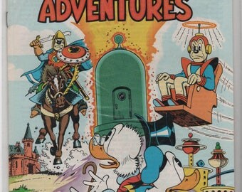29 year old, Walt Disney, Uncle Scrooge Adventures, 6 Comics, # 19, 20, 23, 24, 33, 34, 1989, Gladstone Publishing, Mint Condition.  1863a