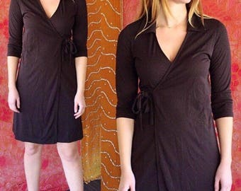 70s Dress Disco Wrap Dress La Belle Slinky Party Wrap Dress
