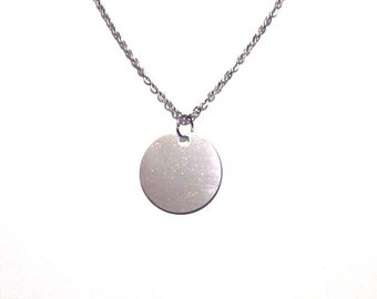 Initial disc, blank disc, customize disc, initial necklace, initial bracelet, gift for her, gift for him