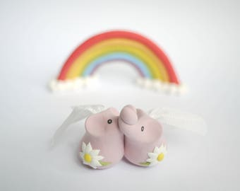 Pink Lesbian Elephant Wedding Cake Topper (With or Without Rainbow)