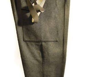 Vintage 50s60s Military pants Wool GreyGreen MILITARY Army field trousers Highwaist Size S Men