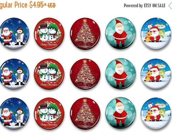 Sale Whimsical Christmas Magnets - Gift for Her - Refrigerator Magnets - Holiday Magnets - Magnetic Chalkboard - Unique Gift - Party Favors