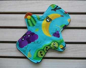 Reusable Cloth Pad - Cloth Panty Liner - Cotton Jersey Banana Print