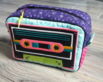 Retro Cassette Tape Craft Pouch Cosmetic Case Bag