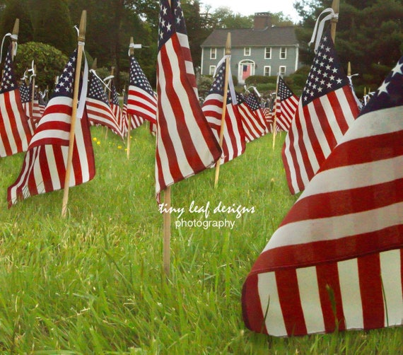 12 x 12 Canvas Memorial Flags Our Heroes Sutton, MA