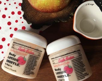 Apple Butter Soufflé Hand & Body Lotion Natural Handmade Fall lotion - Valentines Day Gift