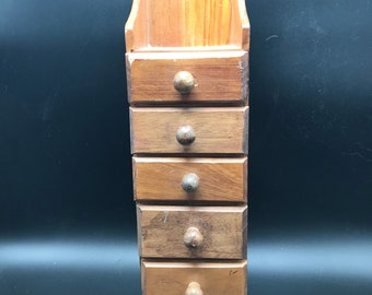 6 drawer wooden cabinet