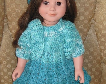 "18"" Doll Crocheted Clothes Handmade Doll Clothes American Girl Doll Clothes Hand Crochet 18"" Doll Clothes"