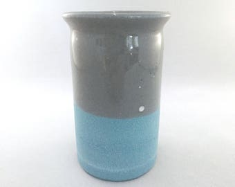 Turquoise and gray vessel