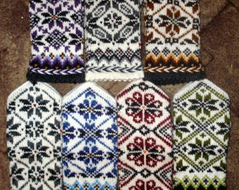 Hand Knitted Latvian Mittens Wool Mittens Knit Wool Gloves Hand Knitted Nordic Mittens Scandinavian Mittens Winter Gloves Patterned Mittens