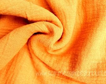 Muslin Mullstoff Double Gauze 100% organic cotton, mustard