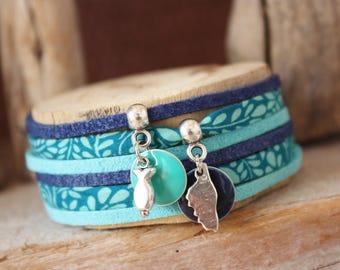 "Lucky charm ""Isula"" turquoise & Blue Navy bracelet"