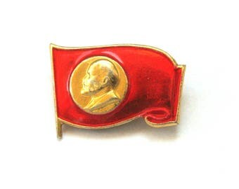 SALE, Lenin, Soviet badge, Vintage collectible badge, Soviet Vintage Pin, USSR, 1980s