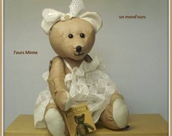 The collection of bears Mimie linen and lace by a world ' bear