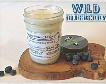 hand poured soy beeswax candle scent No. 64 The Maine Manor | Wild Blueberry fragrance infused with organic essential oils, natural eco