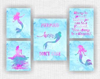 Mermaid room decor | Etsy