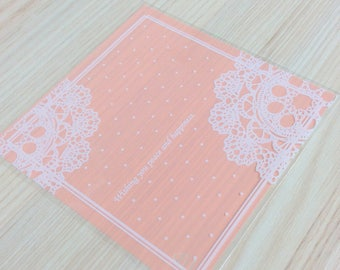 Small bags decorated lace - set of 20