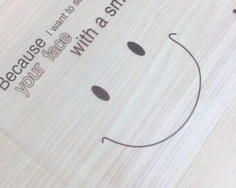 Set of 20 pouches transparent smiley