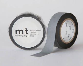 Matte Gray washi tape   MT Masking Tape Summer Collection 2017 MT Plain Color washi tape Japanese Masking Tape (MT01P405)