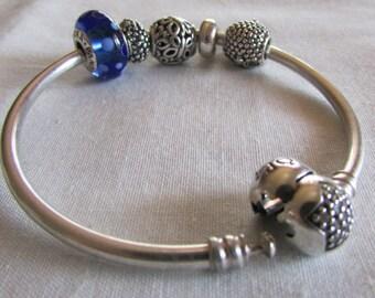 Sterling Silver Pandora Bracelet and Charm