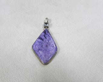 Sterling Silver and Charoite Pendant