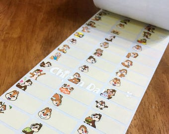 100pcs personalized waterproof name label More than 40choice available MU. Toy Story. Inside Out. Chip n Dale. Dory. Pooh. Stitch. Tsum Tsum