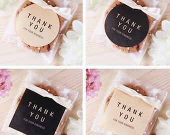 8 Thank You Self Adhesive stickers for cellophane Bags