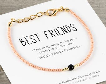 Best Friends Black Ice Bracelet, Friendship Bracelet, Best Friend Gift, Best Friend Friendship Bracelet, Adult Jewelry Best Friend Bracelets