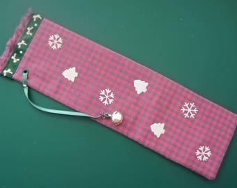 Bookmarks-made Christmas theme fabric