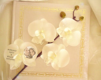 Guestbook white orchids like to customize
