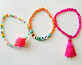 Summertime Beach bracelet stack trio #2