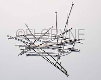 100 PCs 70Mm in shiny silver flat head pin