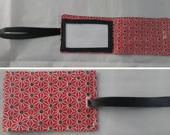 Etiquette02 - Black and red tag for luggage
